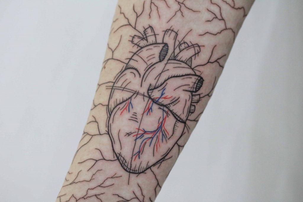 Coração tatuagem